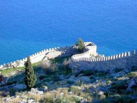 in der Burg von Alanya - (Mietwagen, Ausflug, Side)