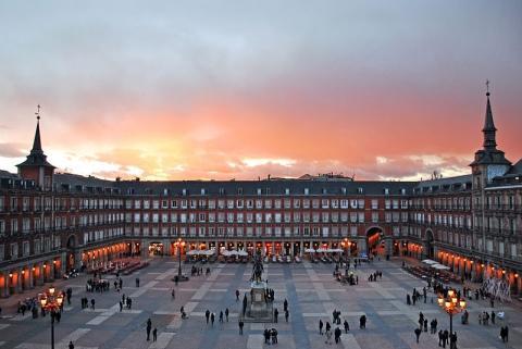 Plaza Mayor de Madrid - (Spanien, Stadt)