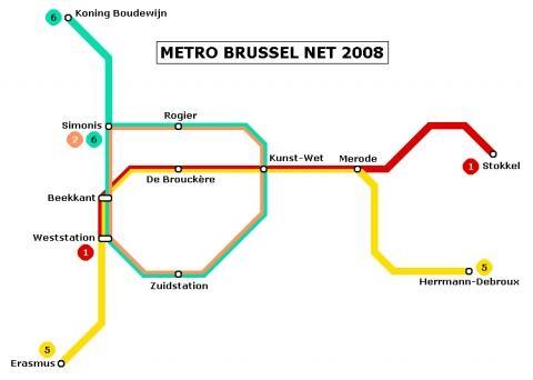 metroplan - (Sehenswürdigkeiten, Belgien, öffentliche Verkehrsmittel)