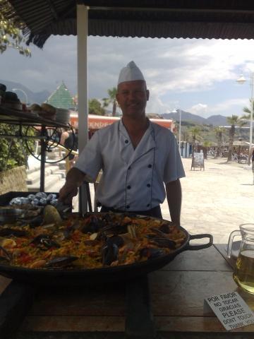 der nette Koch in der Beachbar - (Spanien, Ausflug, Andalusien)
